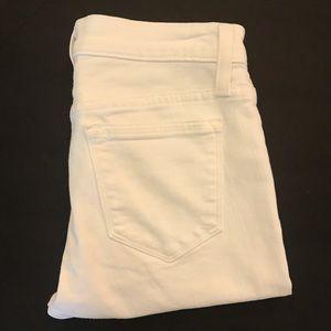 J. Crew Toothpick White Jeans Size 26